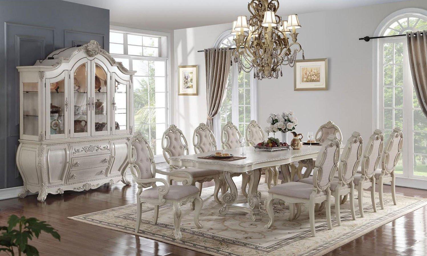 Ragenardus Dining Room Set Antique White Acme Furniture