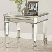 Mirror Panels End Table Coaster Furniture | Furniture Cart