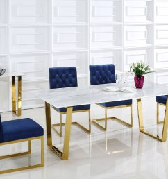 cameron dining room set w navy chairs meridian furniture furniture cart [ 1350 x 900 Pixel ]