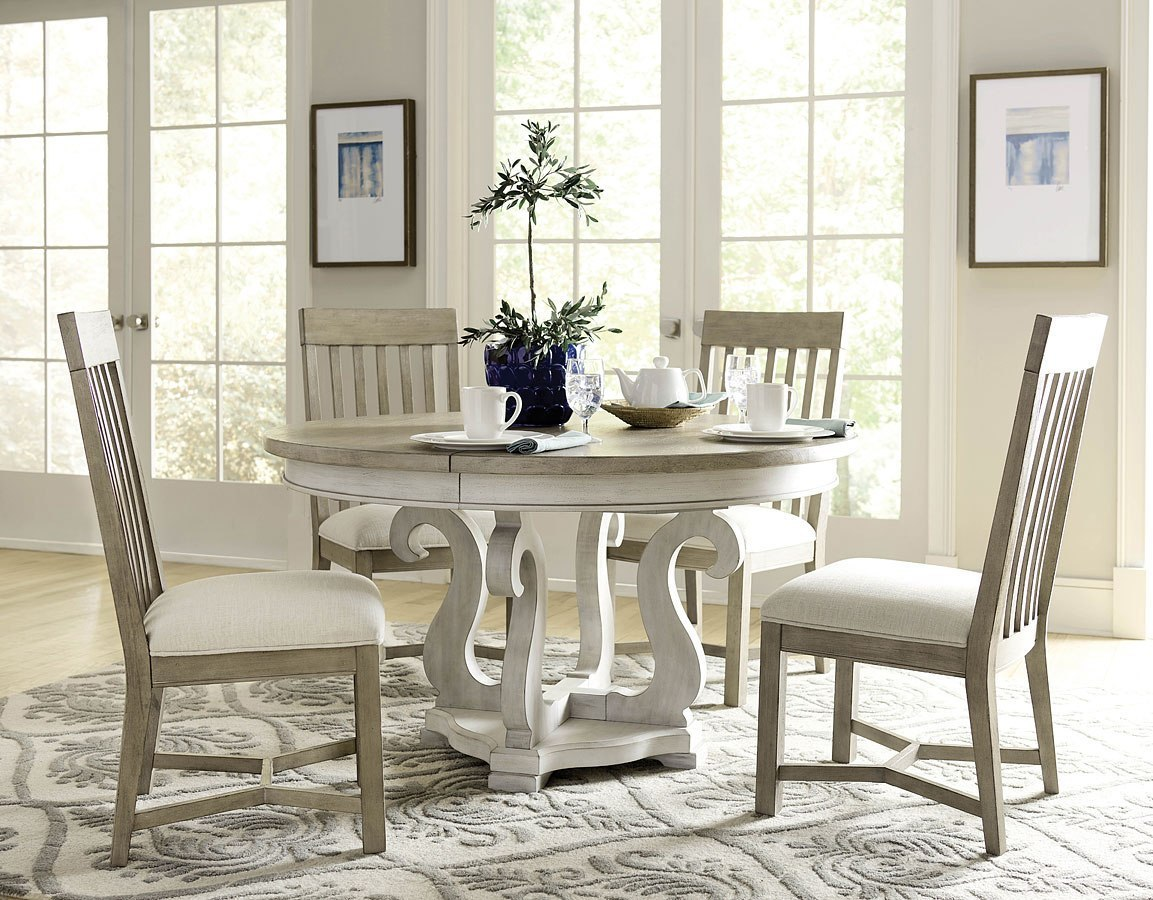 Driftwood Chair Litchfield Sussex Round Dining Room Set W Driftwood