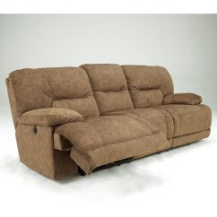 Gladiator Power Dual Reclining Sofa Reviews Small Modern Sofas Nutmeg With Signature Design Furniture Cart