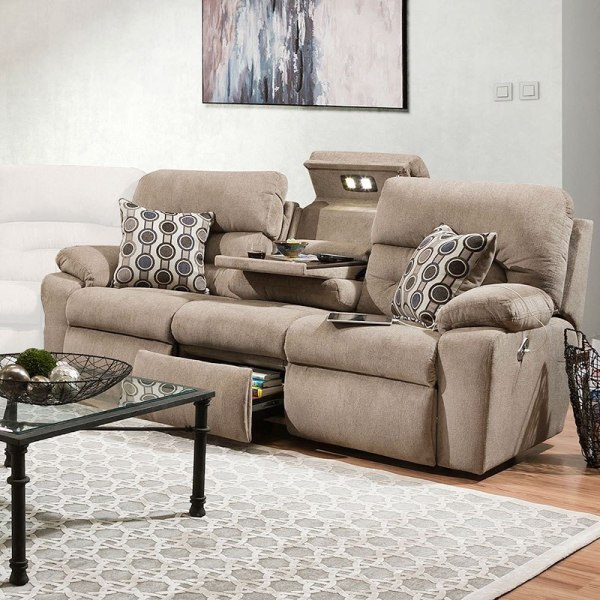 Tribute Power Reclining Sectional Set Colby Stone