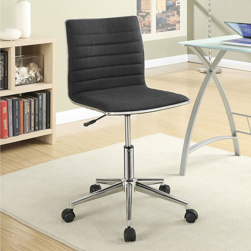 Sleek Adjustable Office Chair Black Coaster Furniture