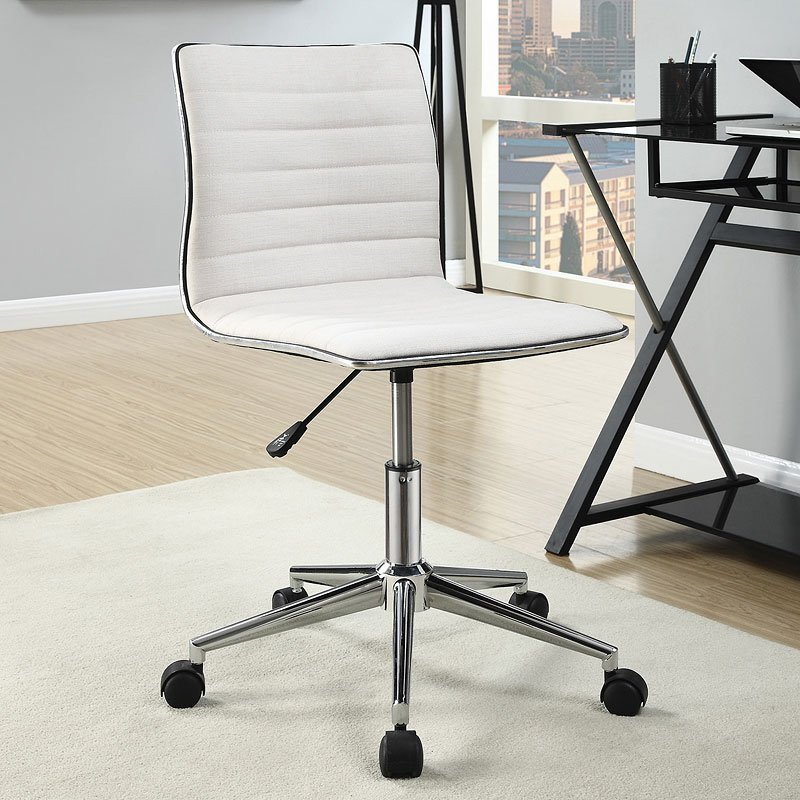 Sleek Adjustable Office Chair Cream Coaster Furniture