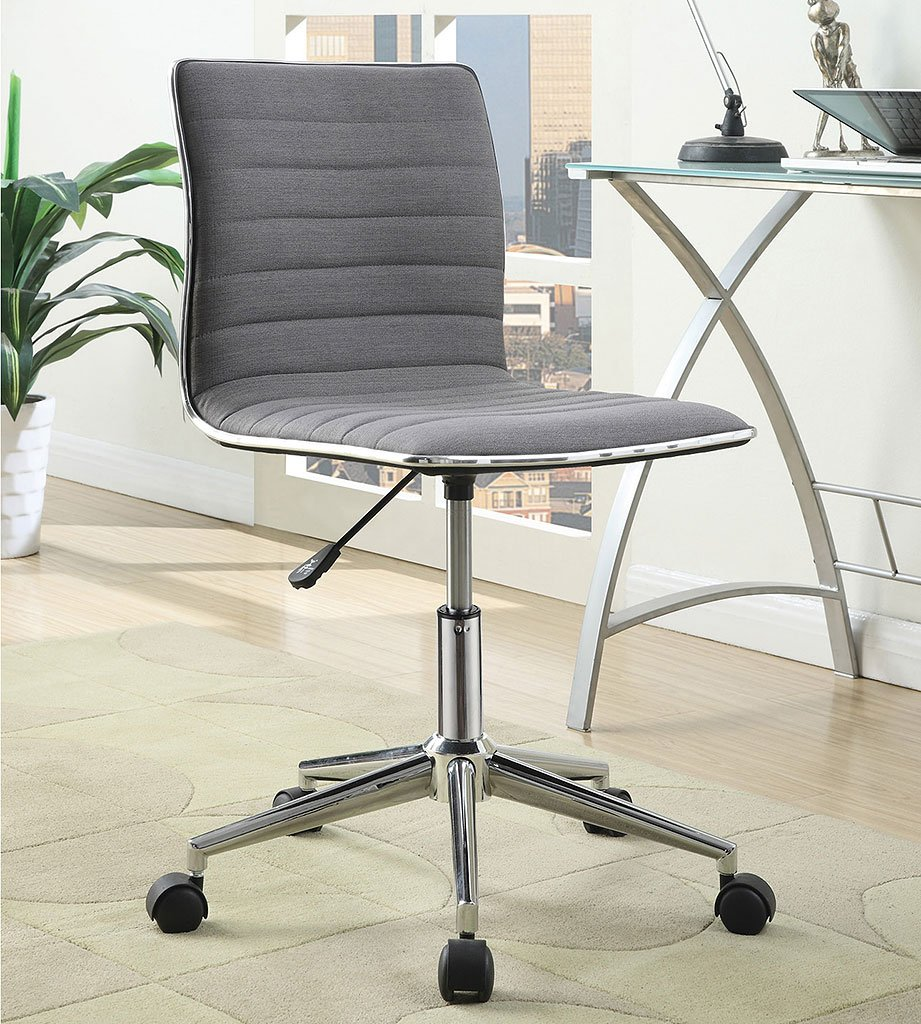 Sleek Adjustable Office Chair Grey Coaster Furniture