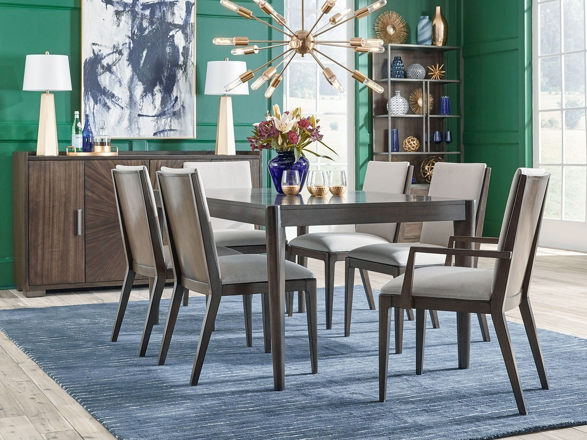 Dining Room Upholstered Chairs Paldao Rectangular Dining Room Set W Upholstered Chairs