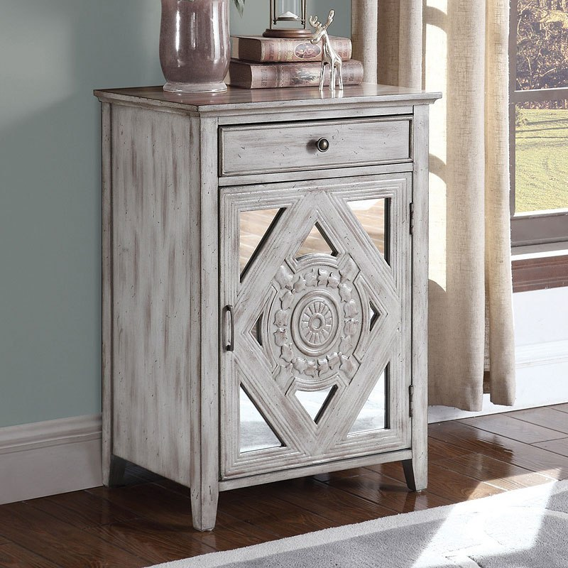 Distressed Grey Small Accent Cabinet Coaster Furniture