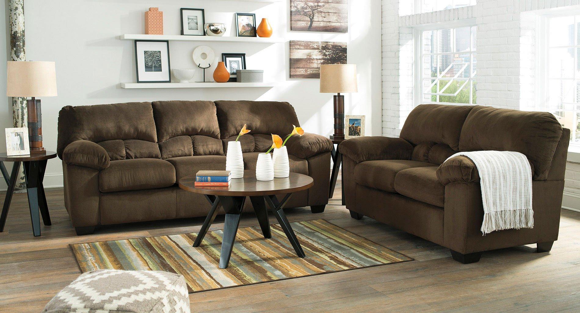 Dailey Chocolate Living Room Set Signature Design