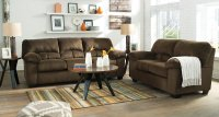 Dailey Chocolate Living Room Set Signature Design