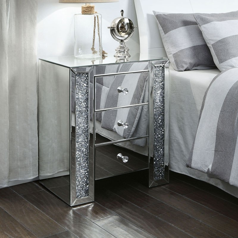 noralie mirrored nightstand end table