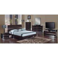 Aurora Glossy Wenge Platform Bedroom Set Global Furniture ...