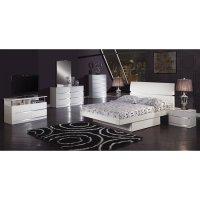 Aurora Glossy White Platform Bedroom Set Global Furniture ...