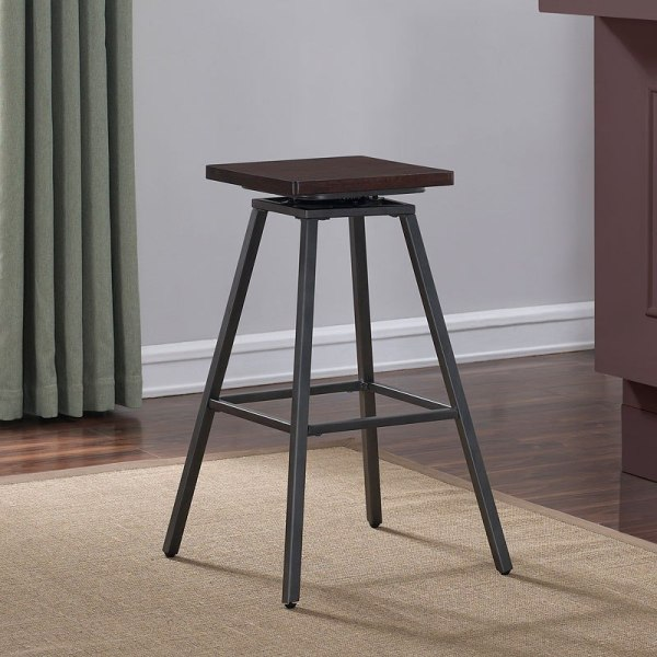 Cherry Wood Backless Counter Stool American Woodcrafters