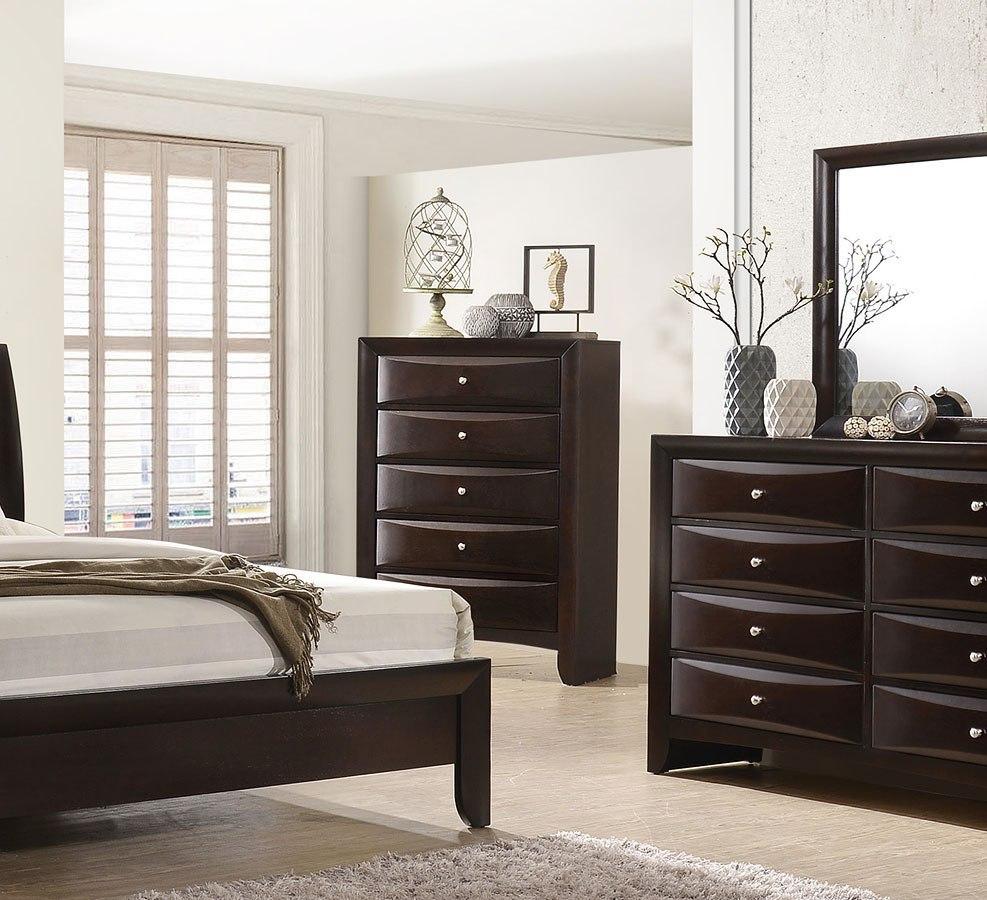 Emily Bookcase Bedroom Set Dark Cherry Crown Mark Furniture  Furniture Cart