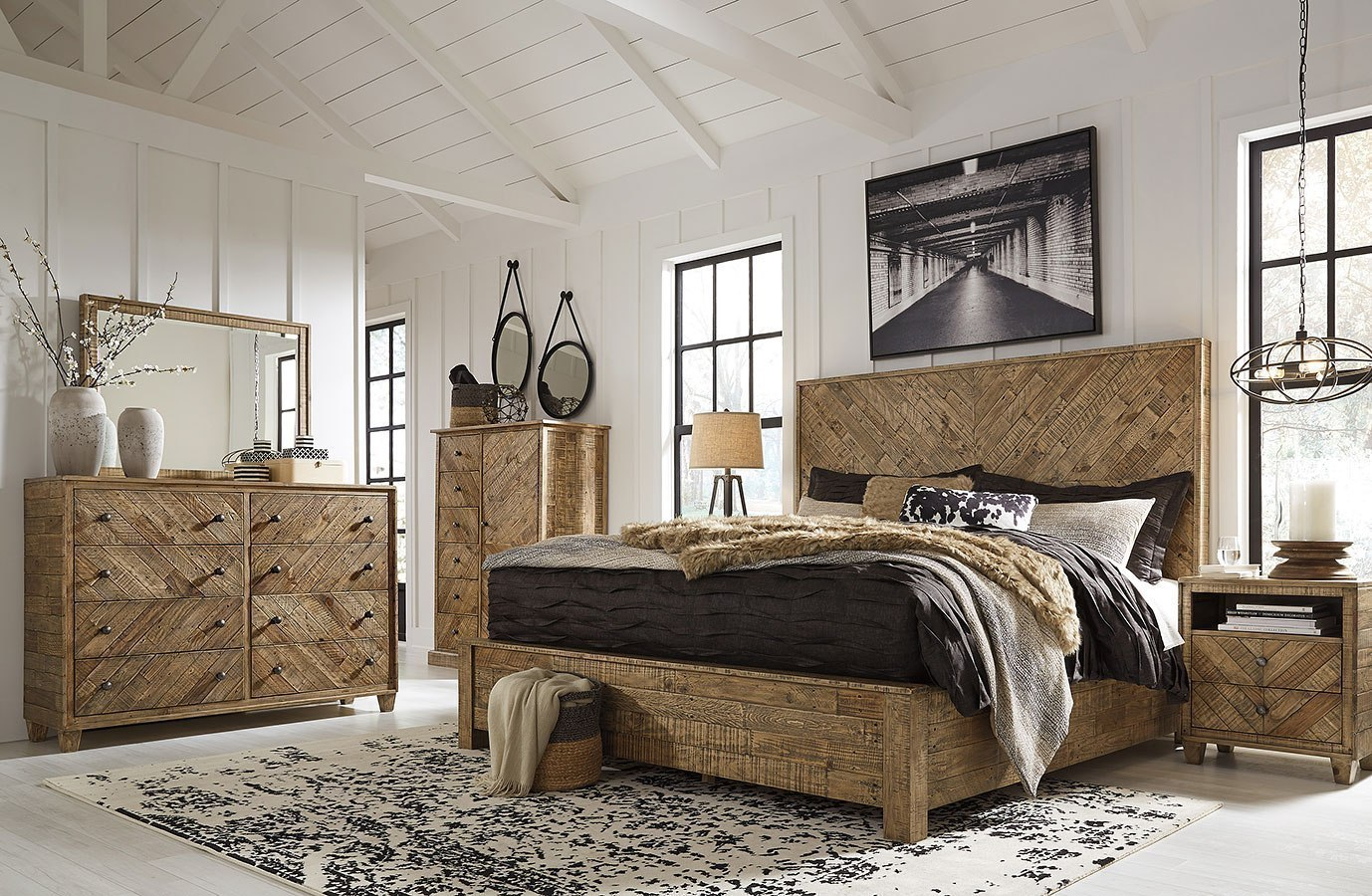 Grindleburg Platform Bedroom Set Signature Design