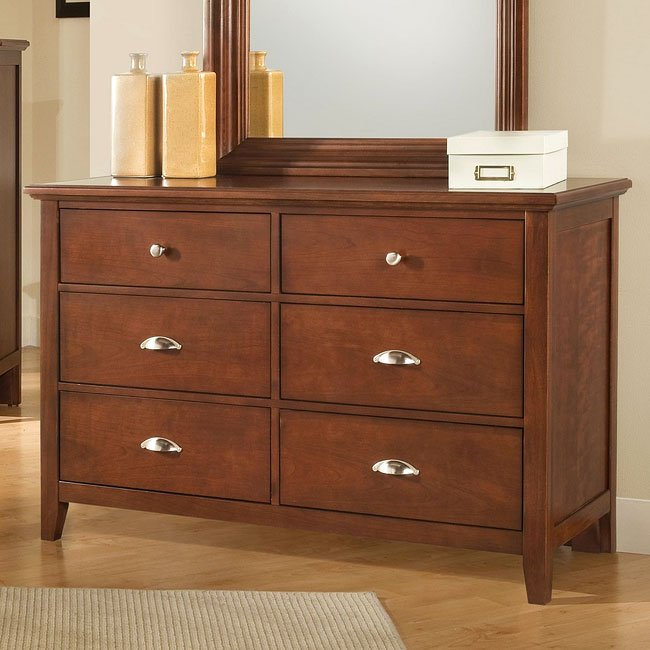 Twilight Double Dresser Cherry Vaughan Bassett  Furniture Cart