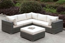 Somani Outdoor L-shaped Sectional Set Configuration 12