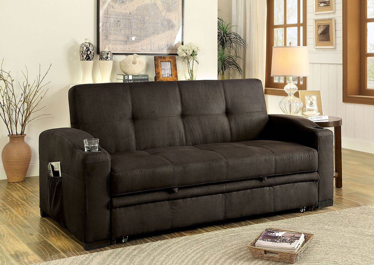 coaster futon sofa bed with removable armrests review blue jean covers mavis furniture of america cart