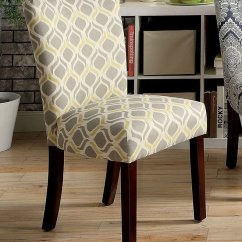 Yellow And Gray Accent Chair Chairs For Babies To Sit Up In Prue Set Of 2 Furniture America Cart