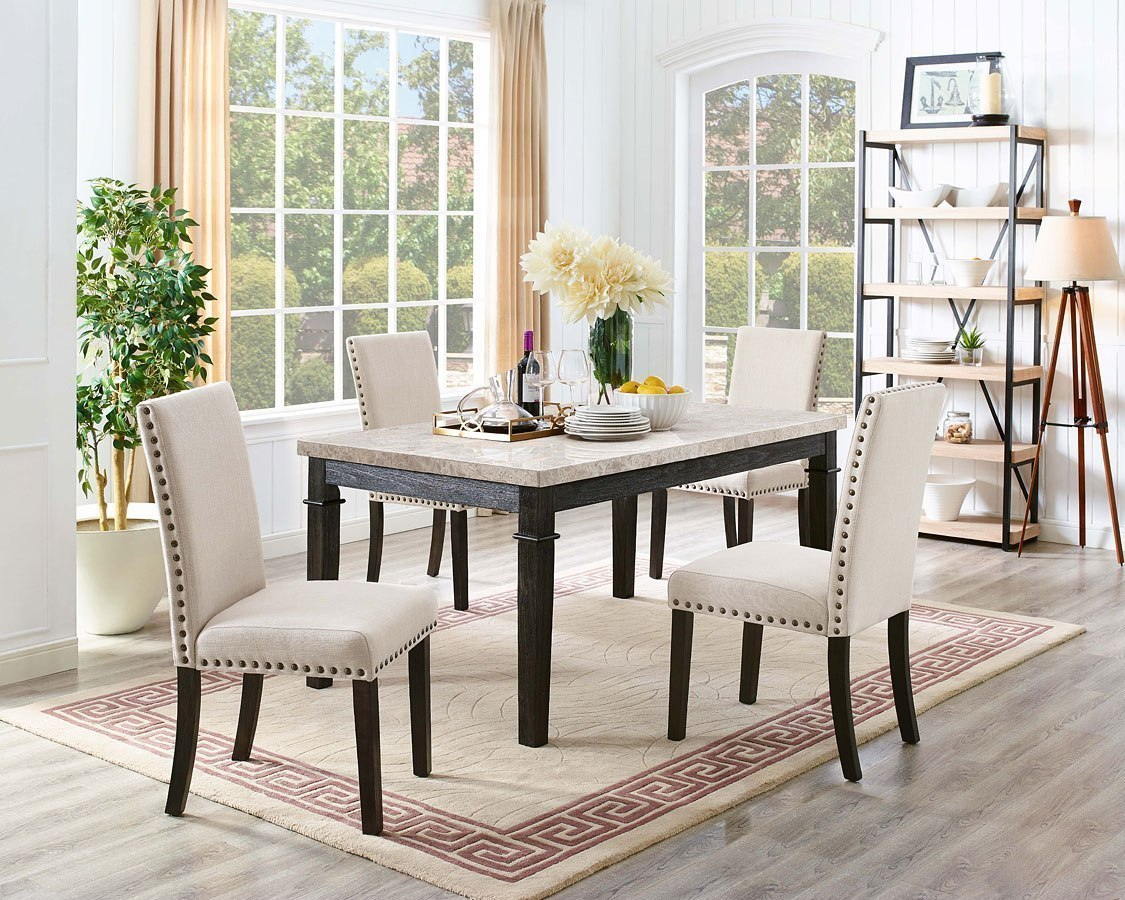Dining Room Upholstered Chairs Greystone Dining Room Set W Upholstered Chairs