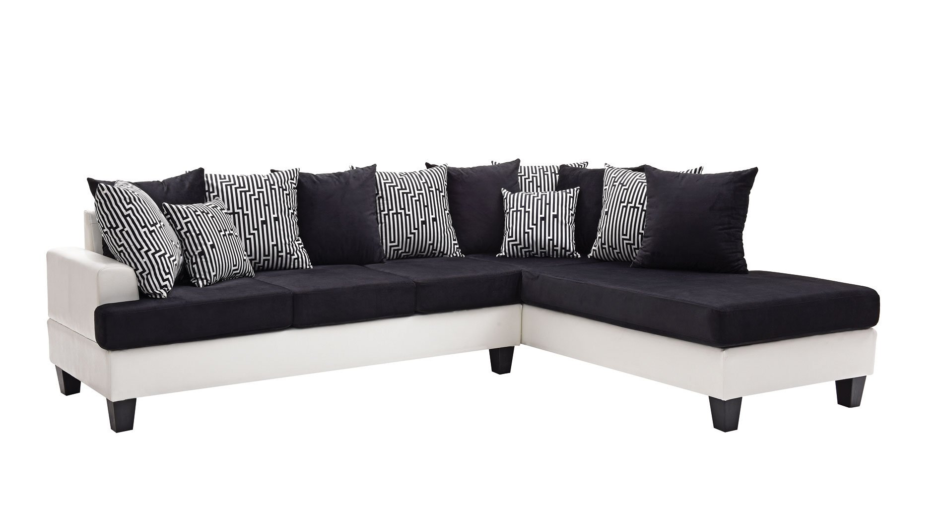 hayden sectional sofa with reversible chaise 2 seater size in inches domino glory furniture