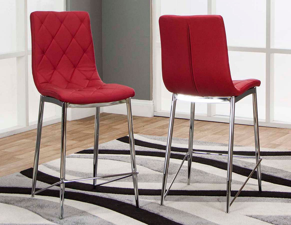 Red Counter Height Chairs Turbo Red Counter Height Stool Set Of 3 Cramco