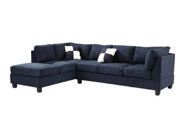 G630 Reversible Sectional Navy Blue Glory Furniture 2