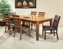 Kona Rectangular Dining Room Set Brandy Intercon