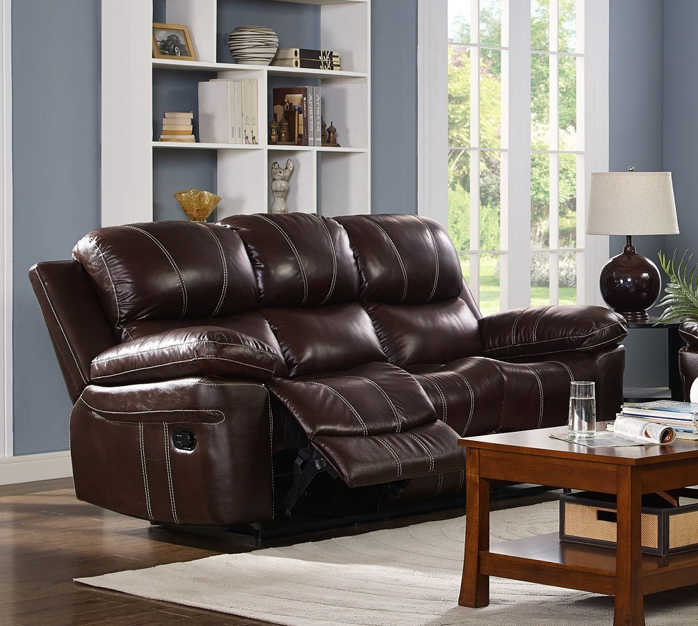 legato power reclining sofa dark brown