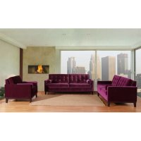 Centennial Living Room Set (Purple Velvet) Armen Living