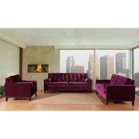 Centennial Living Room Set (Purple Velvet) Armen Living ...