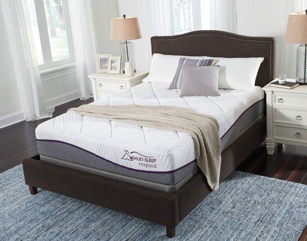 Respond Series Memory Foam Queen Mattress Ashley Sleep Furniture Cart