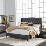 Mirror Upholstered Bedroom Set Chocolate Global Furniture Furniture Cart