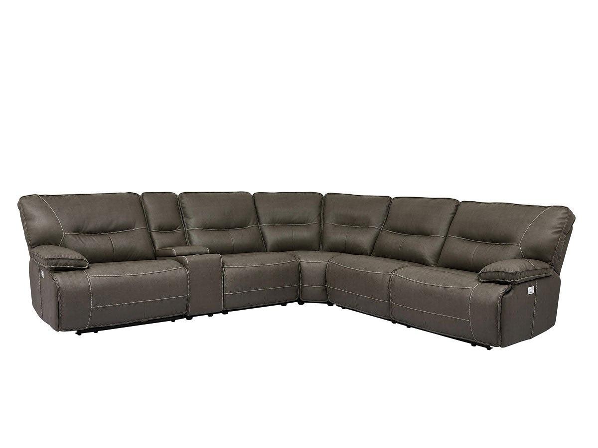 sofa rph modular leather corner spartacus power reclining sectional haze parker living