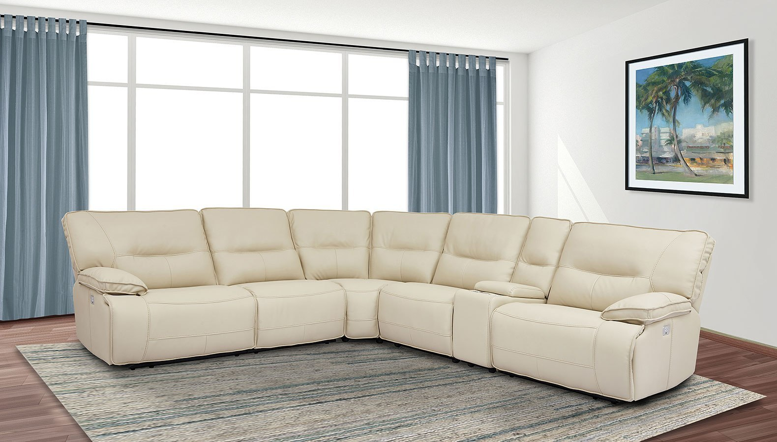 sofa rph bed single size spartacus modular power reclining sectional set oyster parker living furniture cart