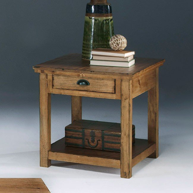 willow end table distressed pine