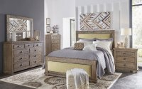 Willow Upholstered Bedroom Set (Weathered Grey ...