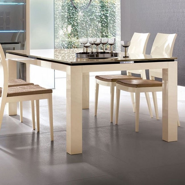 Diamond Dining Room Set Ivory Rossetto USA  Furniture Cart