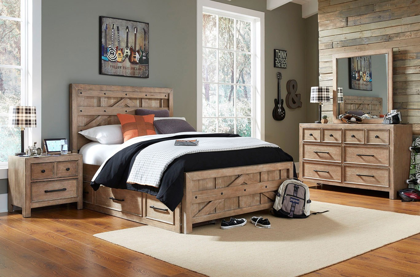 Austin Pallet Panel Bedroom Set Samuel Lawrence Furniture