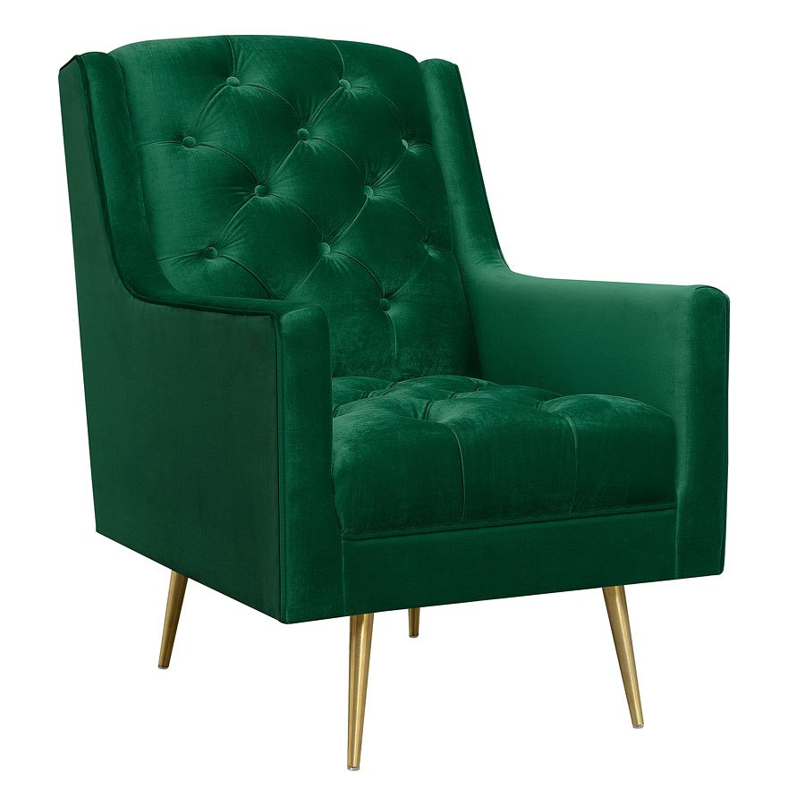 Emerald Green Accent Chair Bryan Accent Chair Emerald Gold