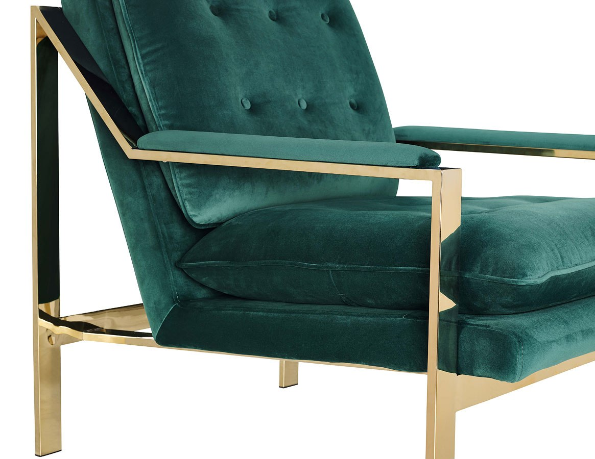 Emerald Green Accent Chair Torrance Accent Chair Emerald Gold