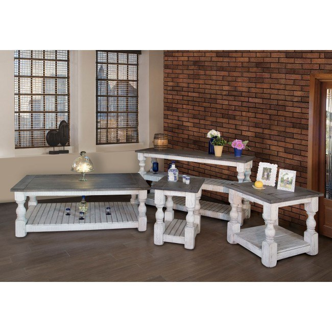 stone occasional table set off white gray