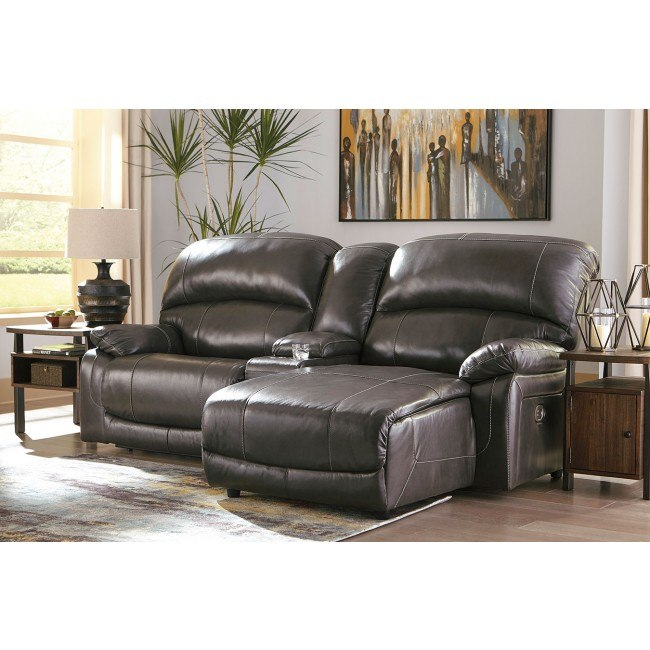 hallstrung gray small power reclining sectional