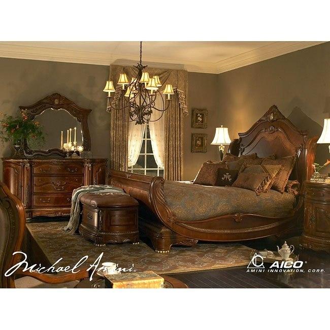 cortina sleigh bedroom set