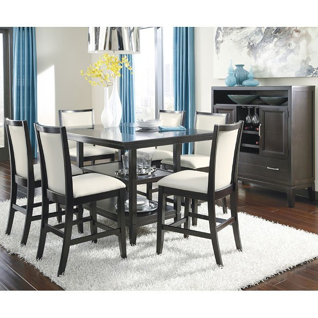 Trishelle Counter Height Dining Room Set Signature Design By Ashley Furniture Cart