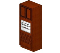 OC3384B Sienna Rope Single Oven Cabinet - Tall Cabinets ...