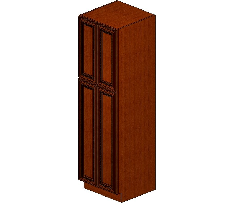 WP2484B Sienna Rope Wall Pantry Cabinet
