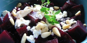Organic Roasted Beet Salad with Feta