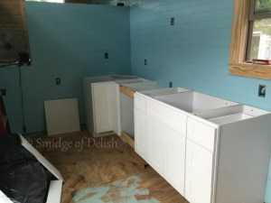 Tiny house update with cabinets!!