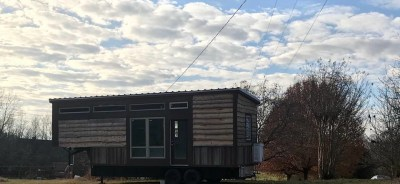 The tiny is home. The tiny house is home